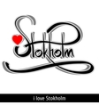 Stokholm greetings hand lettering Calligraphy
