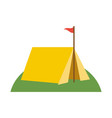 tent camping icon image vector image vector image