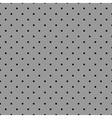 Tile pattern with black polka dots grey background vector image vector image