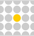 tile pattern with grey and yellow polka dots vector image