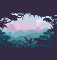 tropical jungle flat vector image vector image