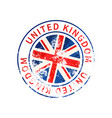 united kingdom sign vintage grunge imprint vector image vector image