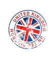 united kingdom sign vintage grunge imprint with vector image