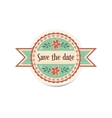 wedding retro badge with ribbons in vintage style vector image vector image