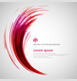 abstract red and pink lines curve circle vector image