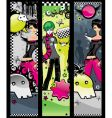 set of emo banners vector image