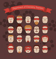 set of various doodle faces vector image