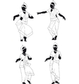 Silhouette of Indian dance vector image