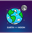 planet earth with the moon vector image