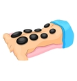 back massage stone therapy vector image
