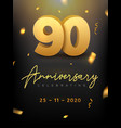 90 years anniversary celebration event golden vector image