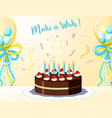 a birthday card template vector image vector image
