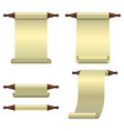 a set of 3 empty scrolls unfolded vertically one vector image vector image