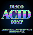 acid house font vector image vector image