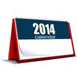 al 0518 desk calendar vector image vector image