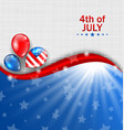 american wallpaper for independence day vector image