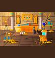 ancient egypt tomb pharaoh cartoons vector image vector image