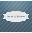 Back to School Text on festive Tag with Ribbon vector image vector image