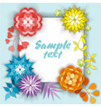 beautiful floral card with place for text vector image vector image
