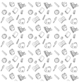 Black and White Textile School Pattern vector image vector image