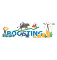 boosting concept people trading on bull stock vector image vector image