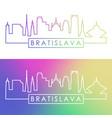 bratislava skyline colorful linear style vector image vector image