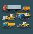 building machines set vector image