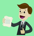 businessman or manager has a lot of jobs job is vector image vector image