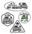 car off-road 4x4 suv trophy truck logo set vector image vector image