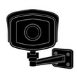 cctv security camera front view black outline vector image vector image
