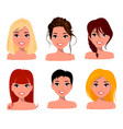 character beautiful business woman set 19 vector image