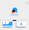 chat message bubble logo template and business vector image