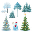 christmas holiday set vector image