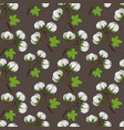 cotton plant floral seamless pattern vector image