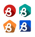 creative handwritten white letter b inscribed in a vector image