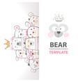 cute winter bear characters vector image vector image