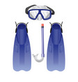 diving equipment vector image vector image