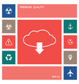 download from cloud elements for your design vector image