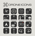 drone or quadcopter icon set vector image vector image