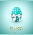 easter holiday greeting card vector image vector image