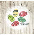 easter nest on wooden texture vector image vector image