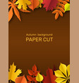 fall leaves banner autumn border paper cut vector image vector image