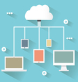 Flat design concept of cloud service vector image vector image