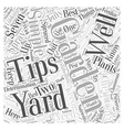 gardening by the yard Word Cloud Concept vector image vector image
