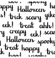 halloween words black lettering seamless pattern vector image vector image