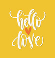 Handdrawn Romantic Poster vector image