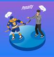 hockey isometric background vector image
