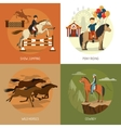 Horse Breeds Concept 4 Icons Square vector image