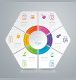 infographics design with 6 options vector image vector image