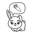 isolated cute sitting rabbit vector image